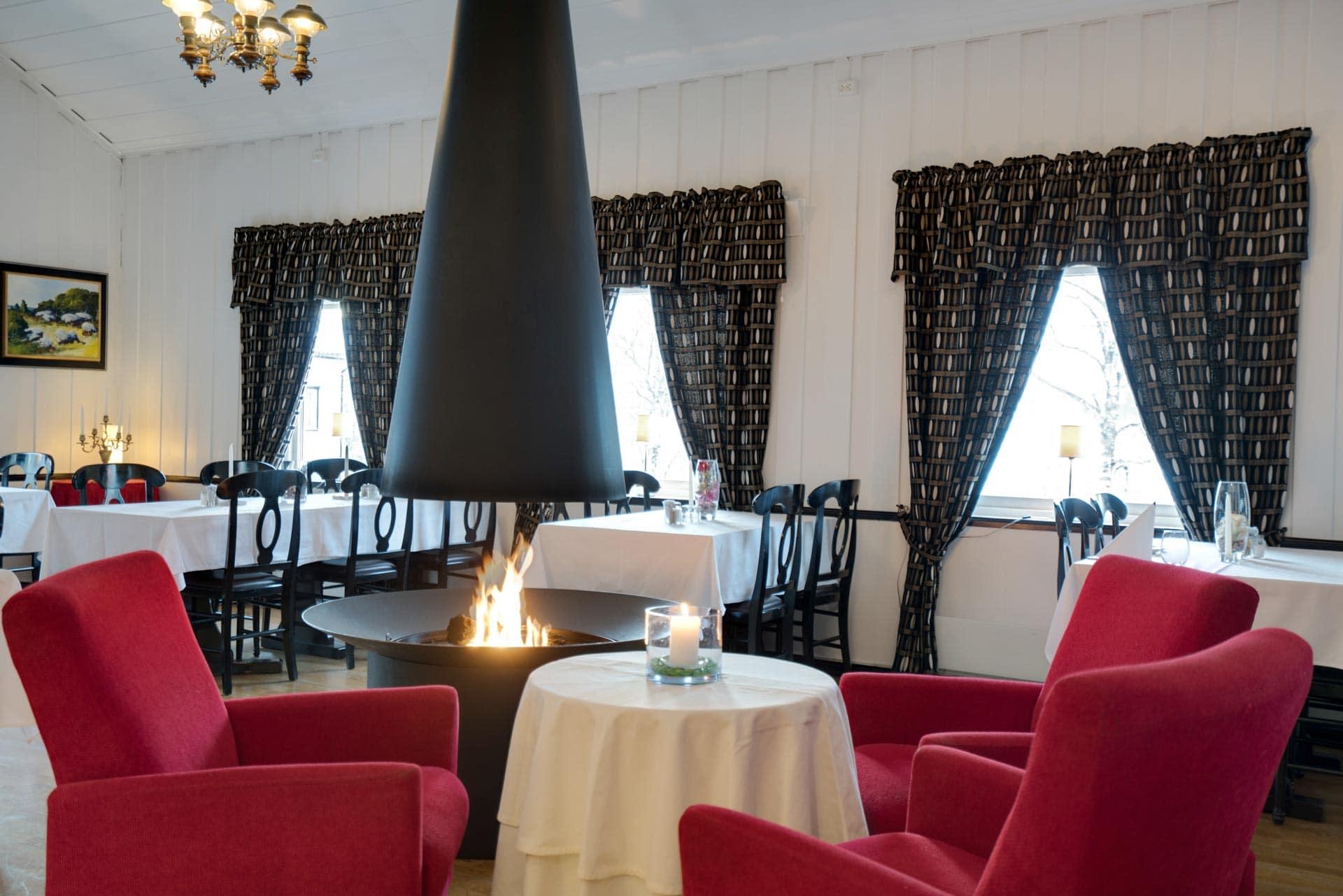 Ravintola, jossa takka